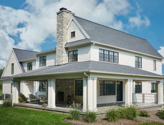 house tradition modern white farmhouse